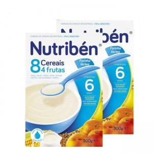 Nutriben Farinhas 8 Cereais 4 Frut La 2x300