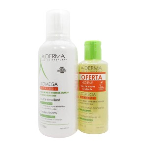 A-Derma Exomega Control Bálsamo Emoliente 400 ml com Oferta de Óleo Duche 200 ml