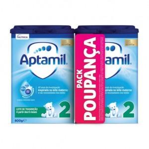 Aptamil 2 Duo Leite pó transição 2 x 800 g com Preço especial de 7l saq