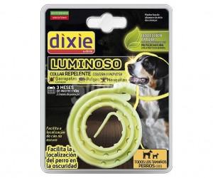 Dixie coleira luminosa antipulgas cao
