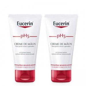Eucerin Duo Creme Mãos 2 x 75 ml com Desconto de 50% na 2ª Embalagem