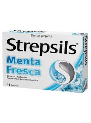 Strepsils Menta Fresca, 1,2/0,6 mg x 16 pst