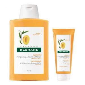 Klorane Champô nutritivo Cabelo Seco 400 ml com Oferta de bálsamo nutritivo 50 ml