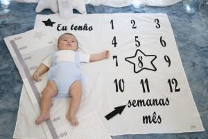 Mime lençol p/ fotografar crescimento bebé