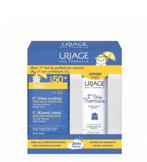 Uriage Bebé 1ère Creme mineral SPF50+ 50 ml com Oferta de 1ère Água termal 50 ml