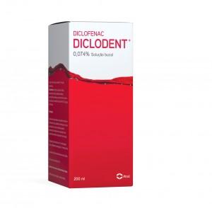 Diclodent 0,074 % Solução Bucal