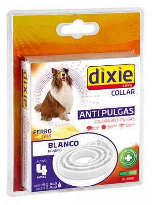 Dixie coleira cao antipulgas branca