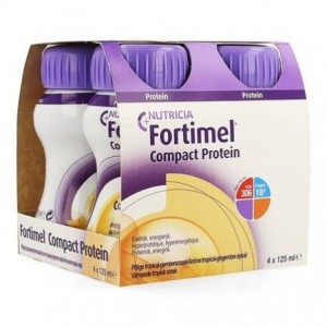 Fortimel Compact Protein Gengibre Tropical 125Ml X4