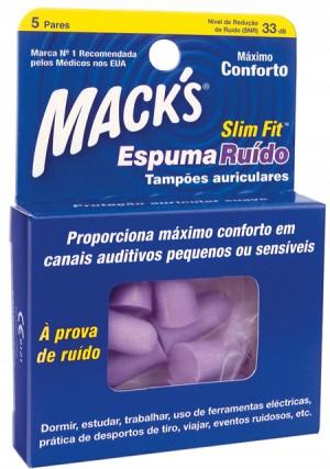 Mack S Esp Ruido Tampao Oto Slim Fit X 5