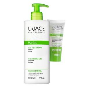 Uriage Hyséac Gel de limpeza suave 500 ml com Oferta de 3-Regul Creme 15 ml