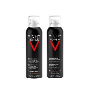 Vichy Homme Mouss Barb 200ml Duo